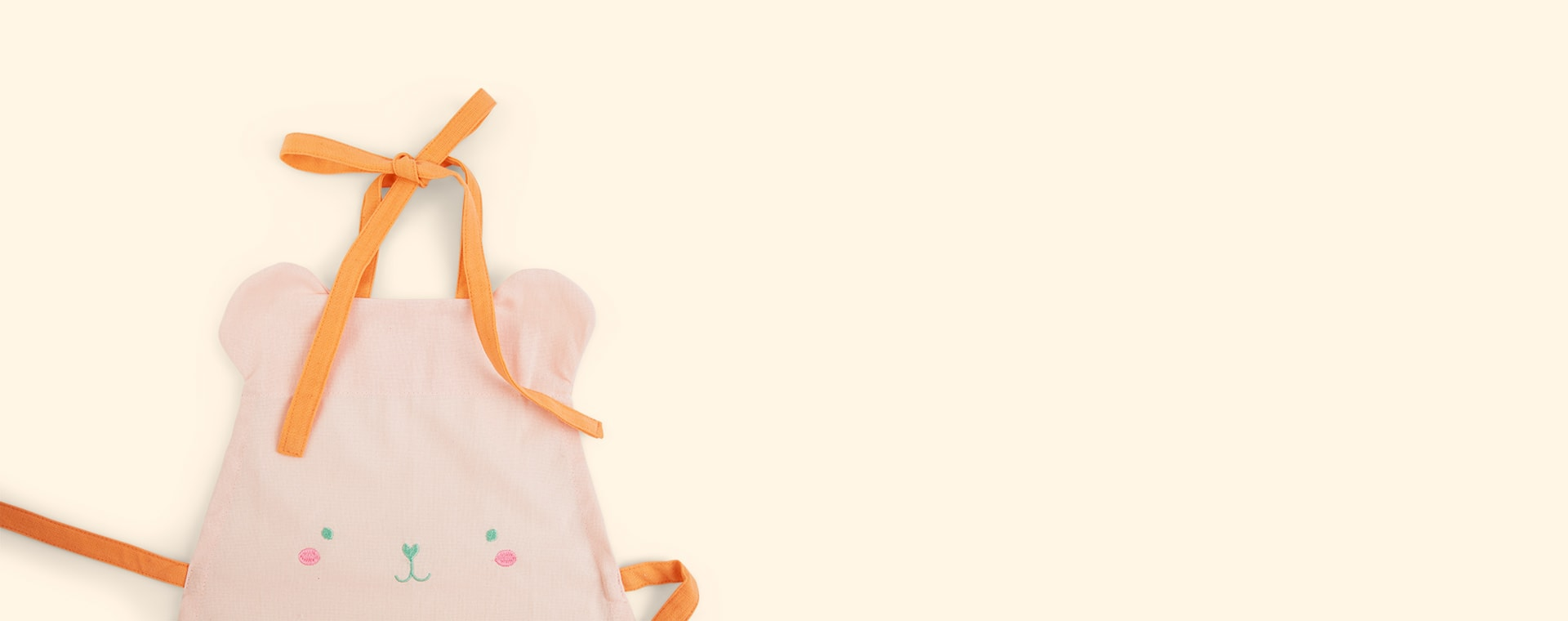 Pink Rice Bear Apron