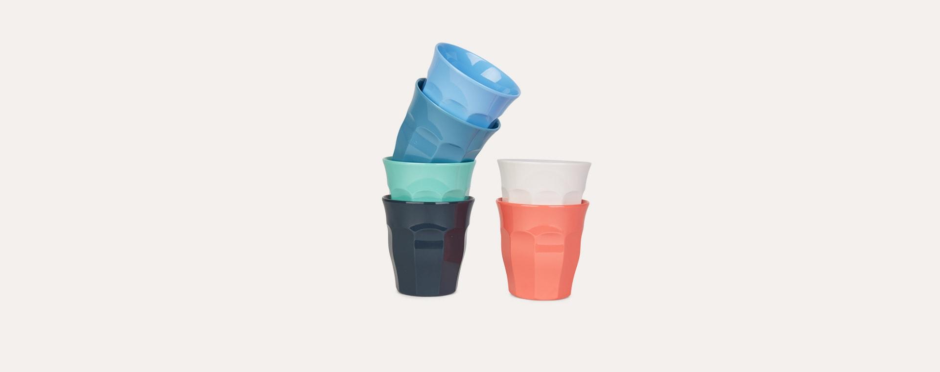 Multi Rice Melamine Cups 6 Pack