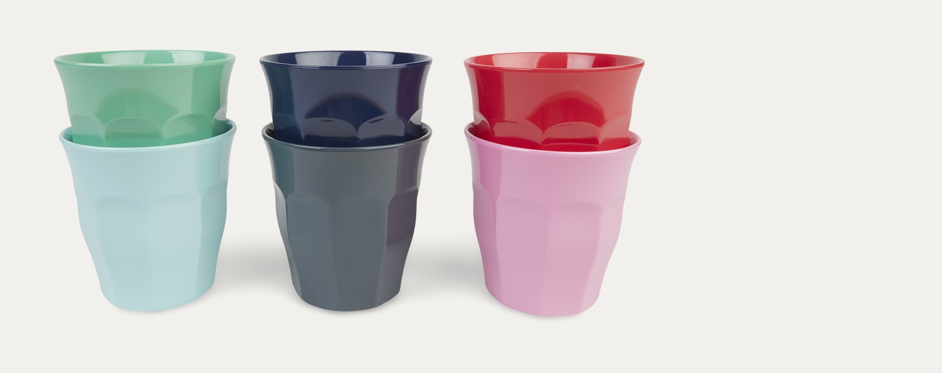 Red Lipstick Rice Melamine Cups 6 Pack