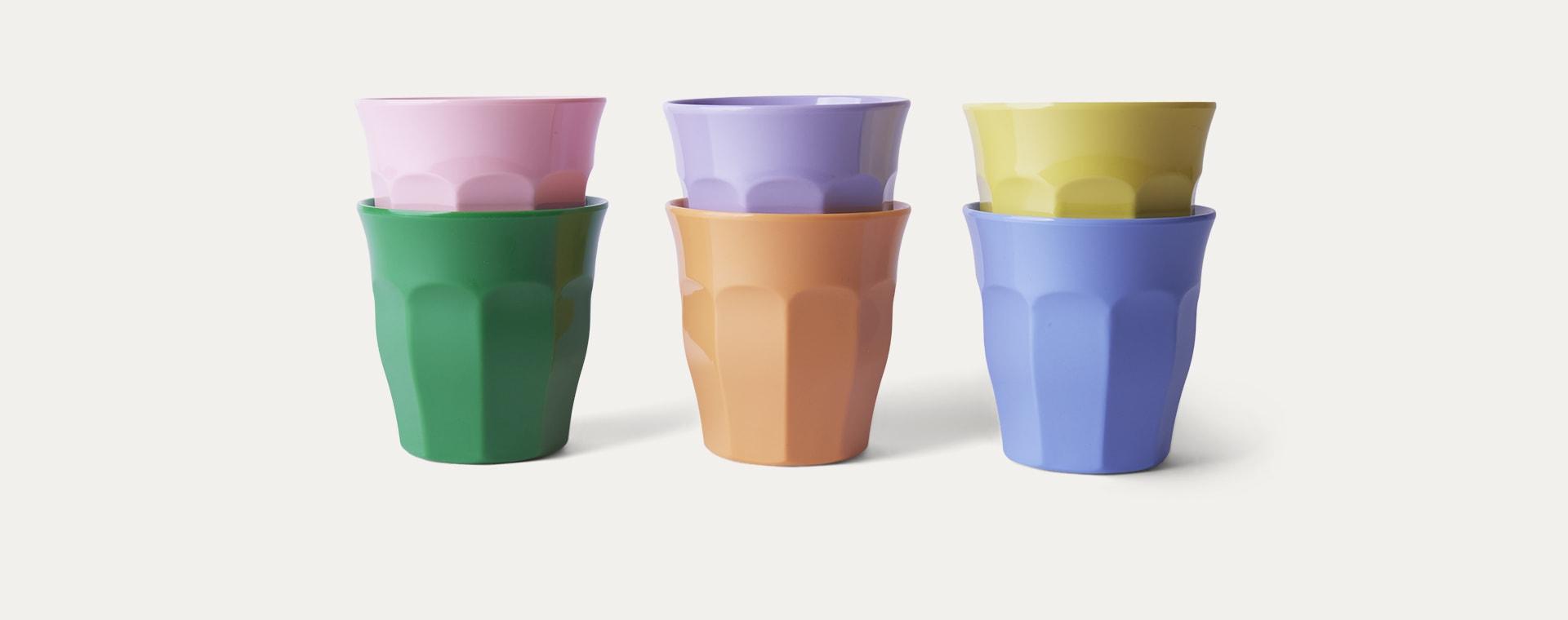 Summer Pastels Rice Melamine Cups 6 Pack