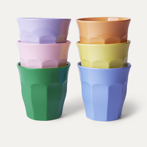 Summer Pastels Rice Melamine Cups 6 Pack