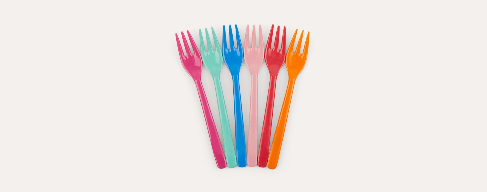 Choose Happy Forks Rice 6-Pack Melamine Cutlery