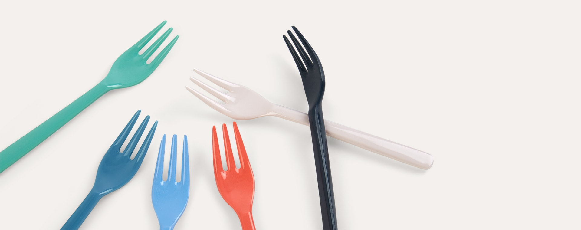 Forks Rice Melamine Cutlery 6 Pack