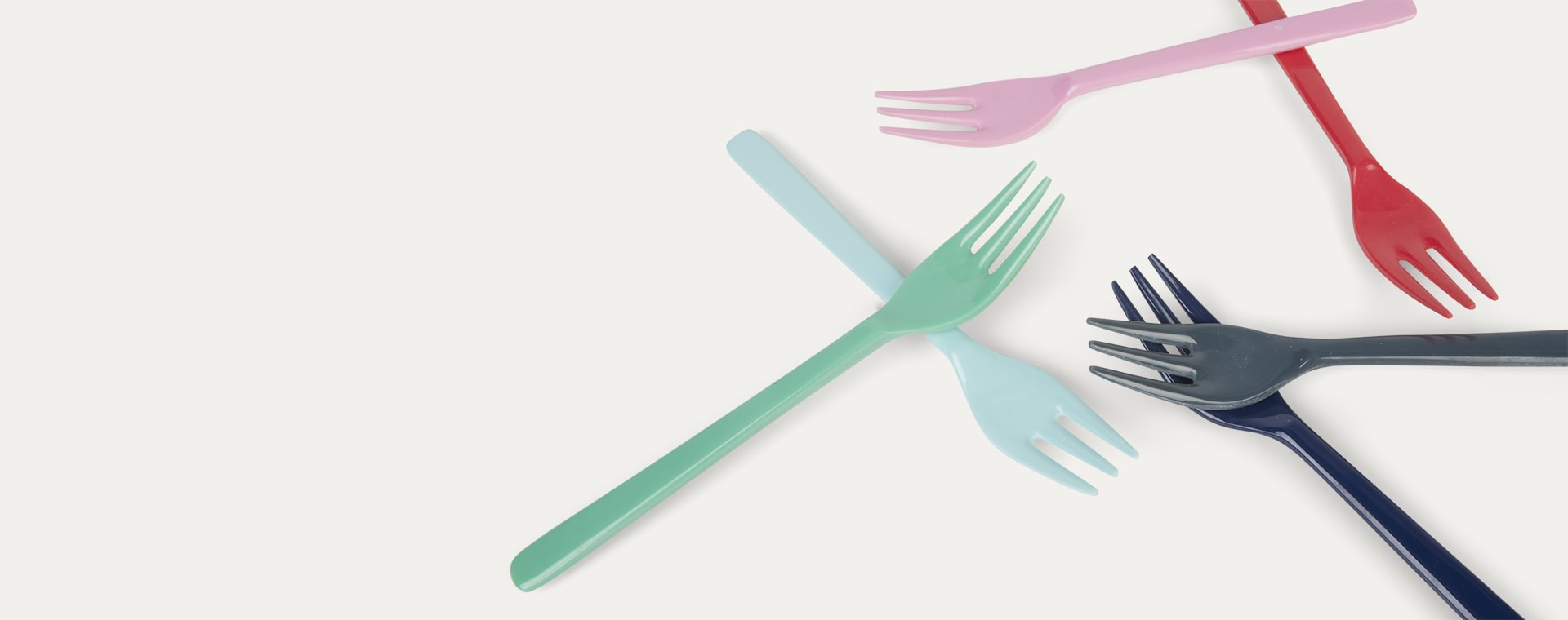 Lipstick Forks Rice Melamine Cutlery 6 Pack