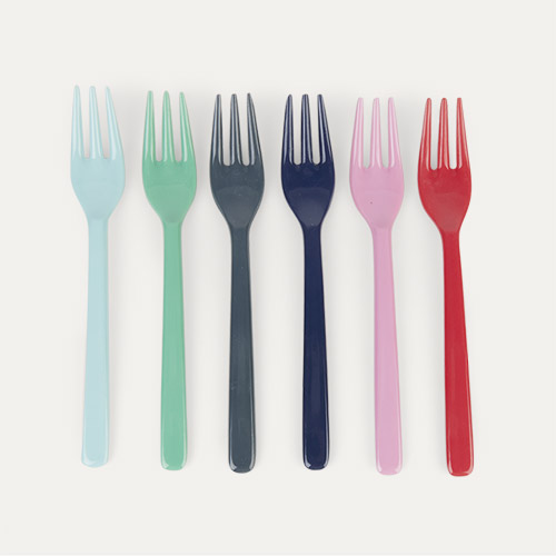 Lipstick Forks Rice Melamine Cutlery 6 Pack