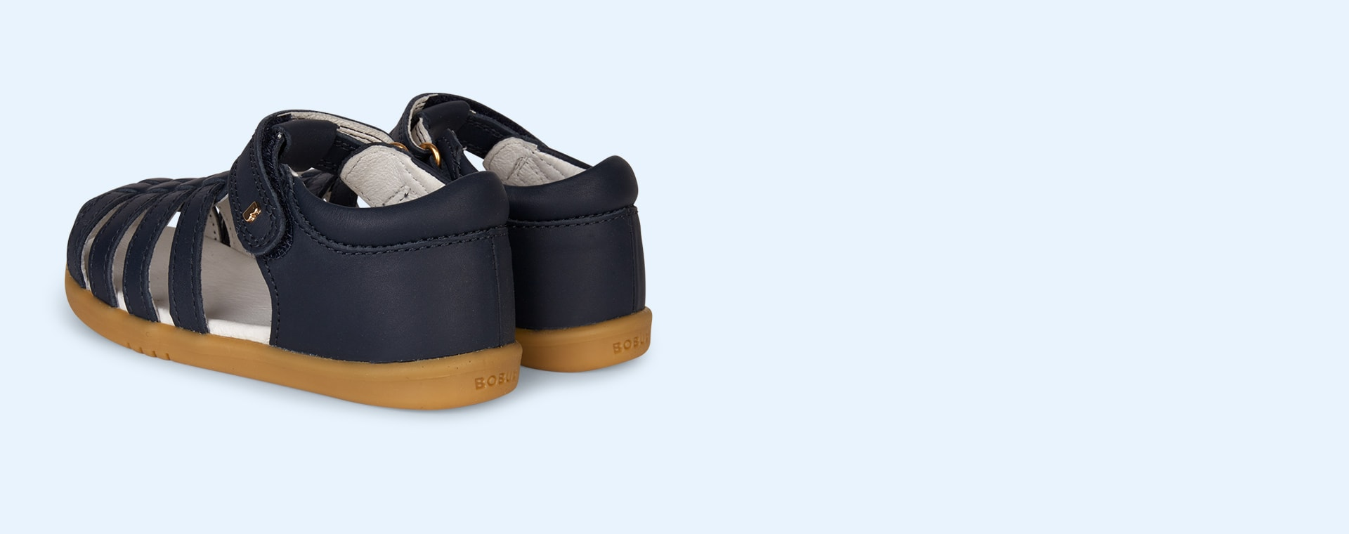 Navy Bobux I-Walk Jump Closed Sandal