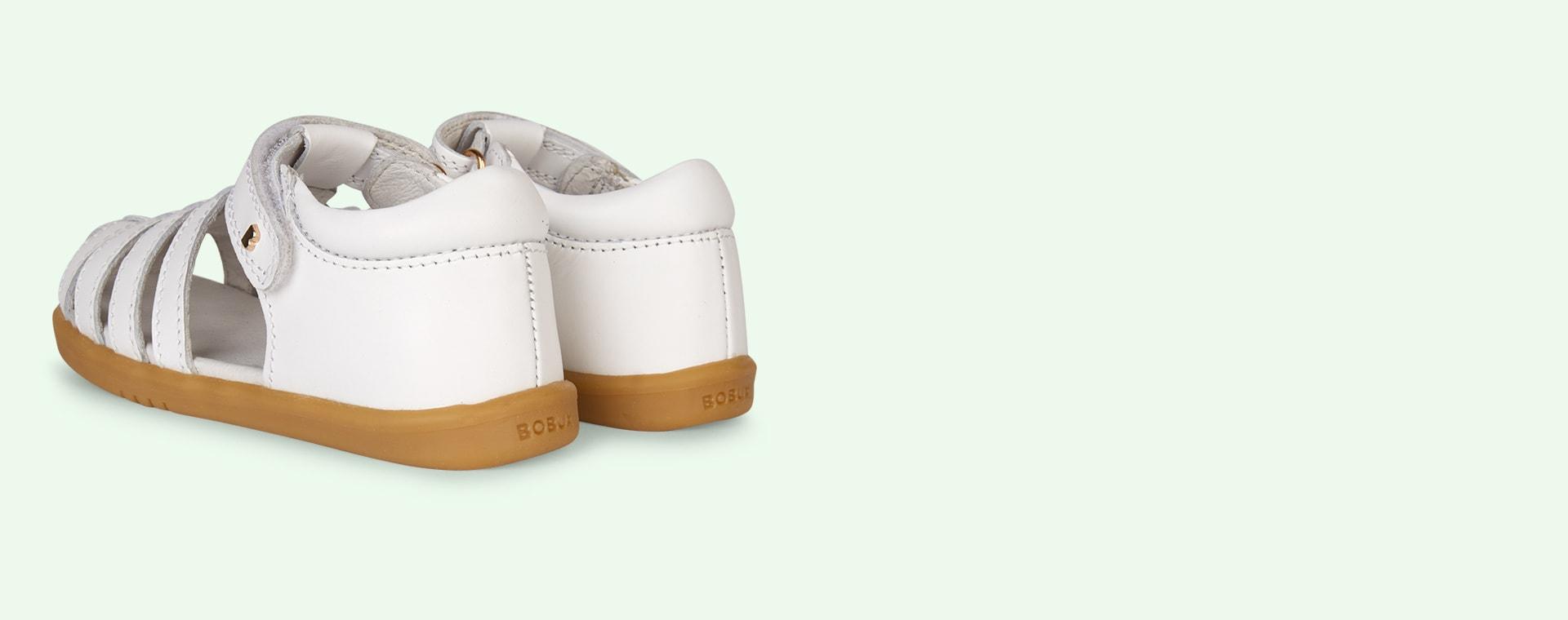 White Bobux I-Walk Jump Closed Sandal