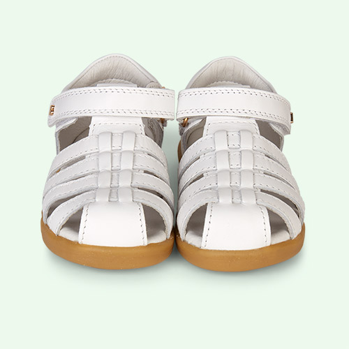 White Bobux I-Walk Jump Closed Sandal