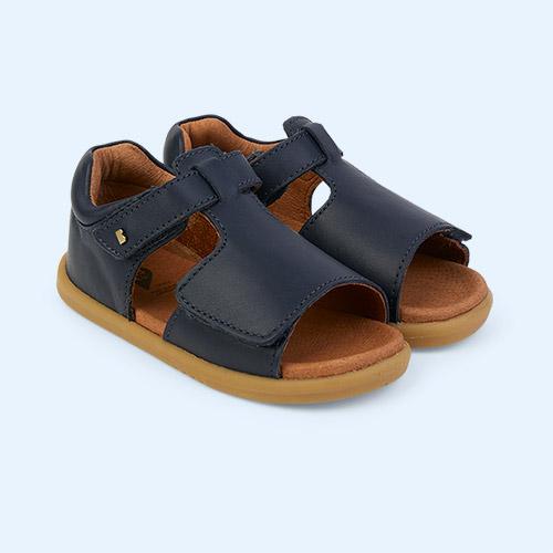 Navy Bobux I-Walk Mirror Open Sandal