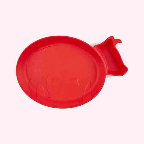 Red jj rabbit Dip Plate