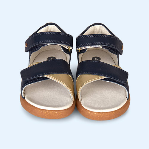 Navy & Gold Bobux I-Walk Sail Open Sandal