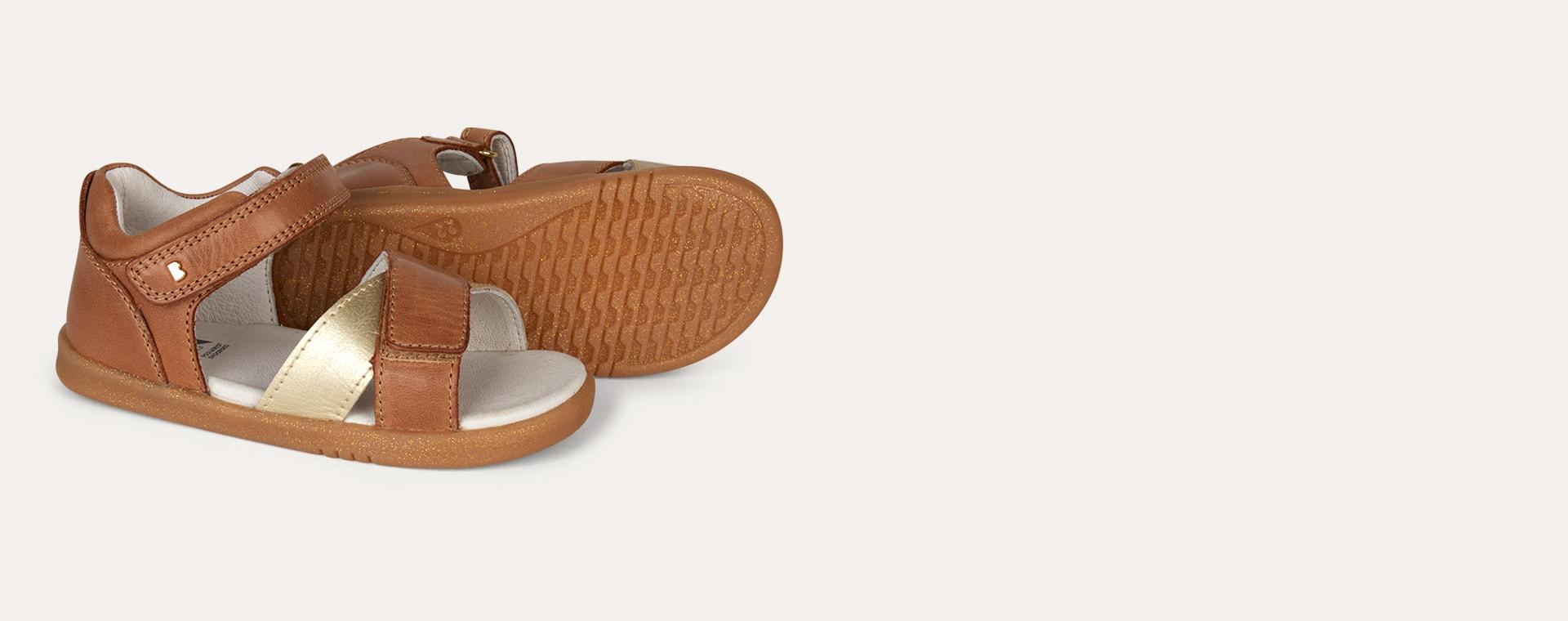 Caramel & Gold Bobux I-Walk Sail Open Sandal