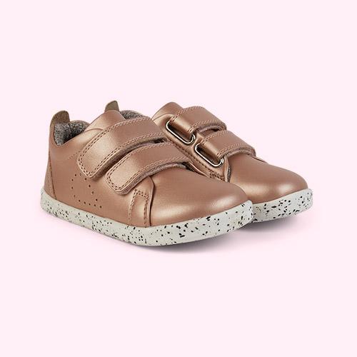 Rose Gold Bobux I-Walk Grass Court Casual Shoe