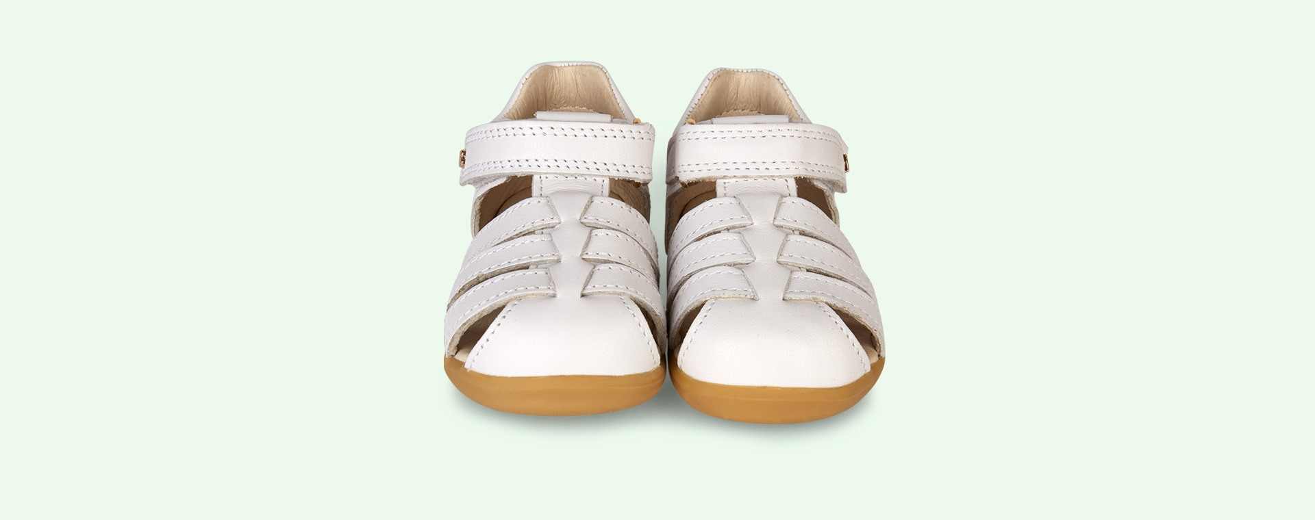White Bobux Step Up Jump Closed Sandal