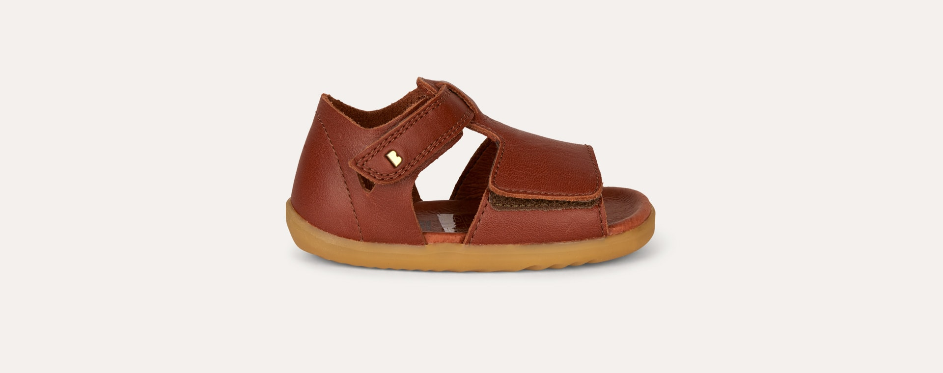 Chestnut Bobux Step Up Mirror Open Sandal