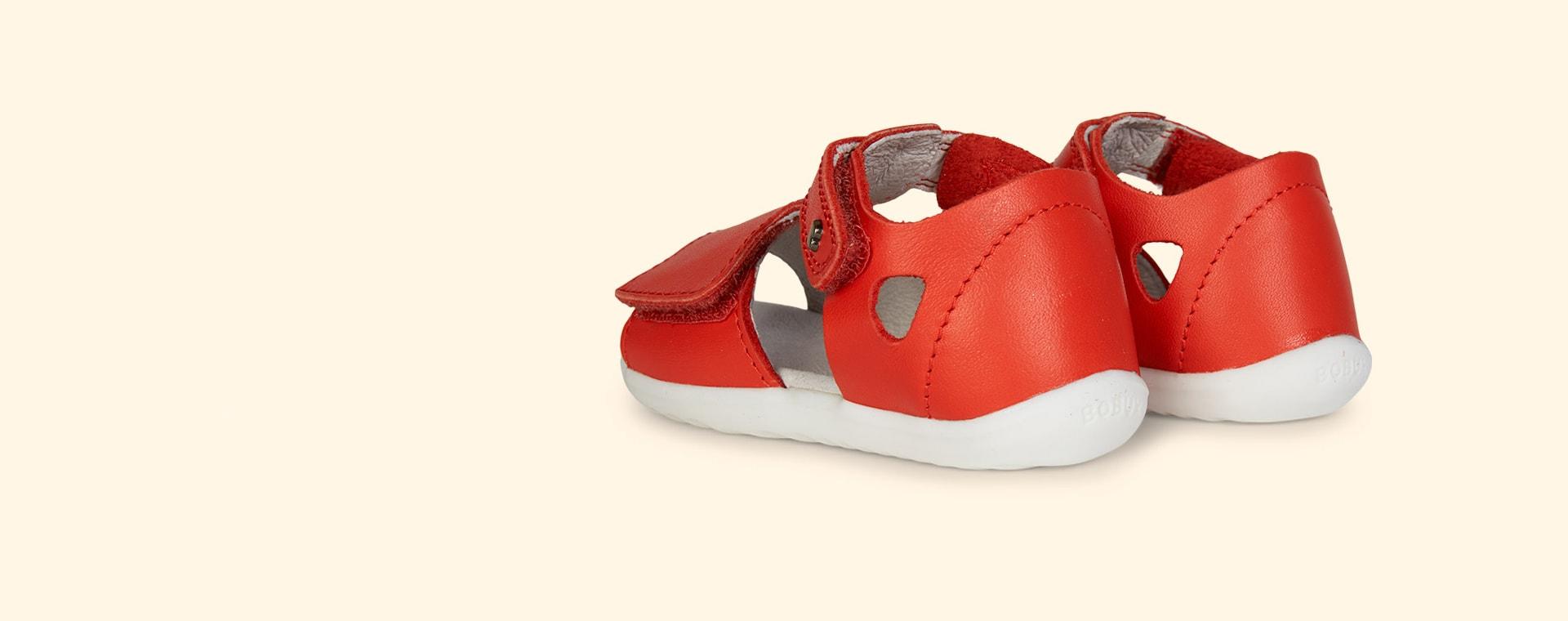 Orange Bobux Step Up Mirror Open Sandal