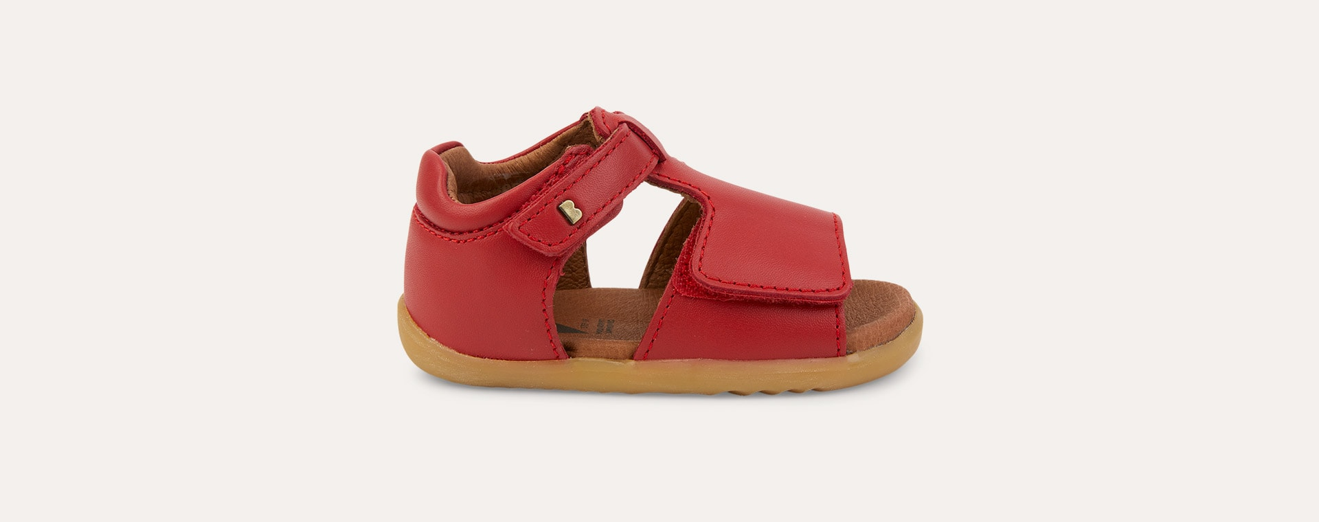 Red Bobux Step Up Mirror Open Sandal
