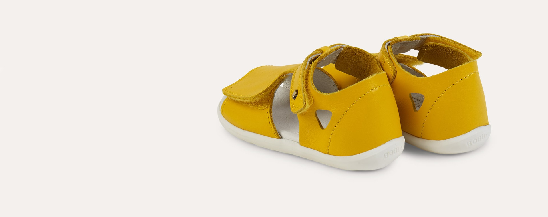 Yellow Bobux Step Up Mirror Open Sandal