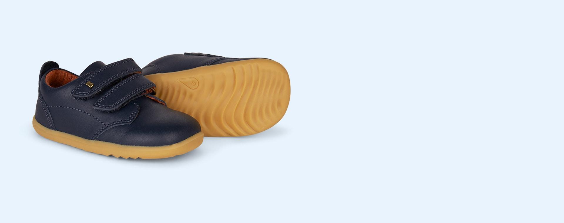 Navy Bobux Step Up Port Dress Shoe
