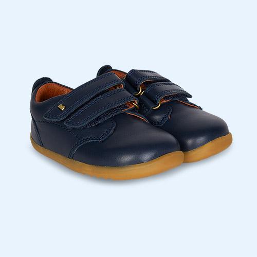 New Navy Bobux Step Up Port Dress Shoe
