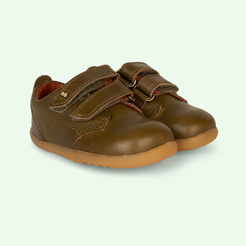 Olive Bobux Step Up Port Dress Shoe