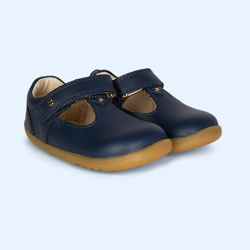 New Navy Bobux Step Up Louise T-Bar