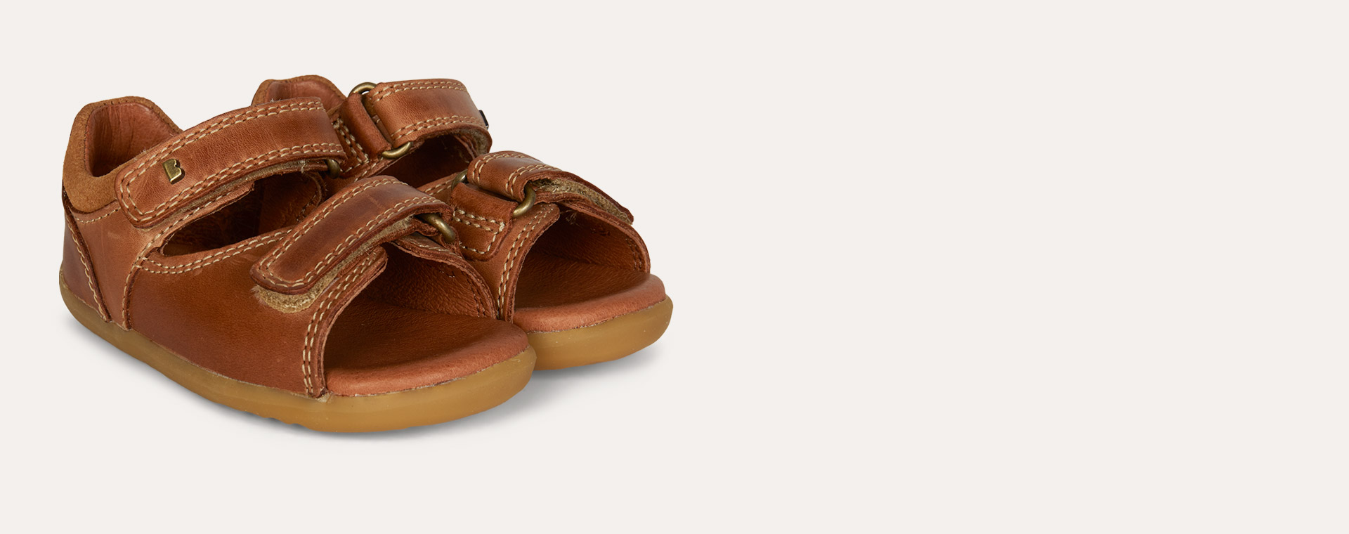 Caramel Bobux Step Up Driftwood Open Sandal