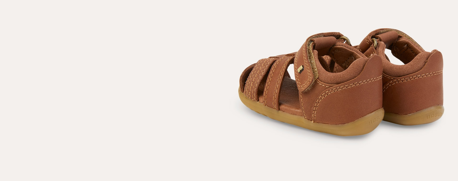 New Caramel Bobux Step Up Roam Closed Sandal