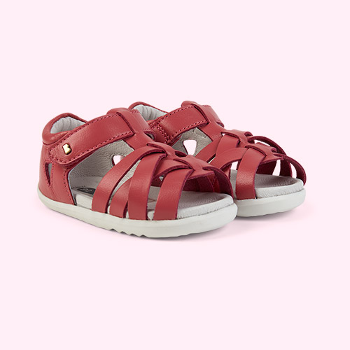 Strawberry Bobux Step Up Tropicana Closed Sandal