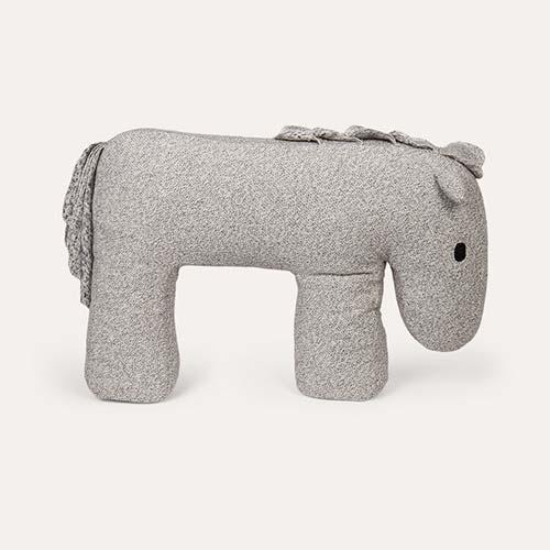 Grey Nanami Horse Feeding Pillow