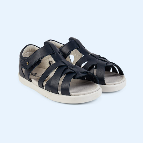 Navy Bobux Kid+ Tropicana Sandal