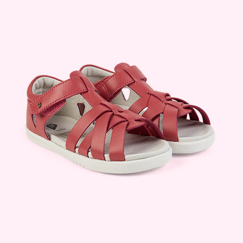 Strawberry Bobux Kid+ Tropicana Closed Sandal