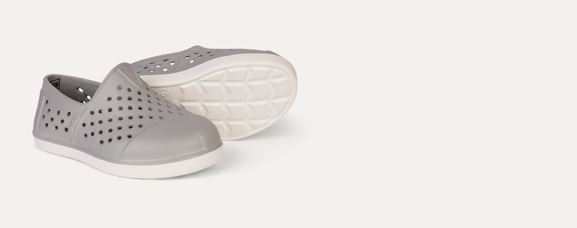 Grey TOMS Romper Slip On Shoe
