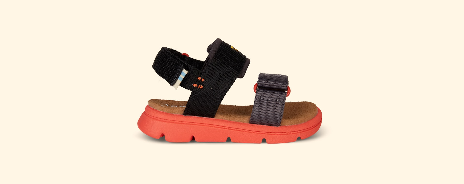 Black TOMS Ray Water Sandal