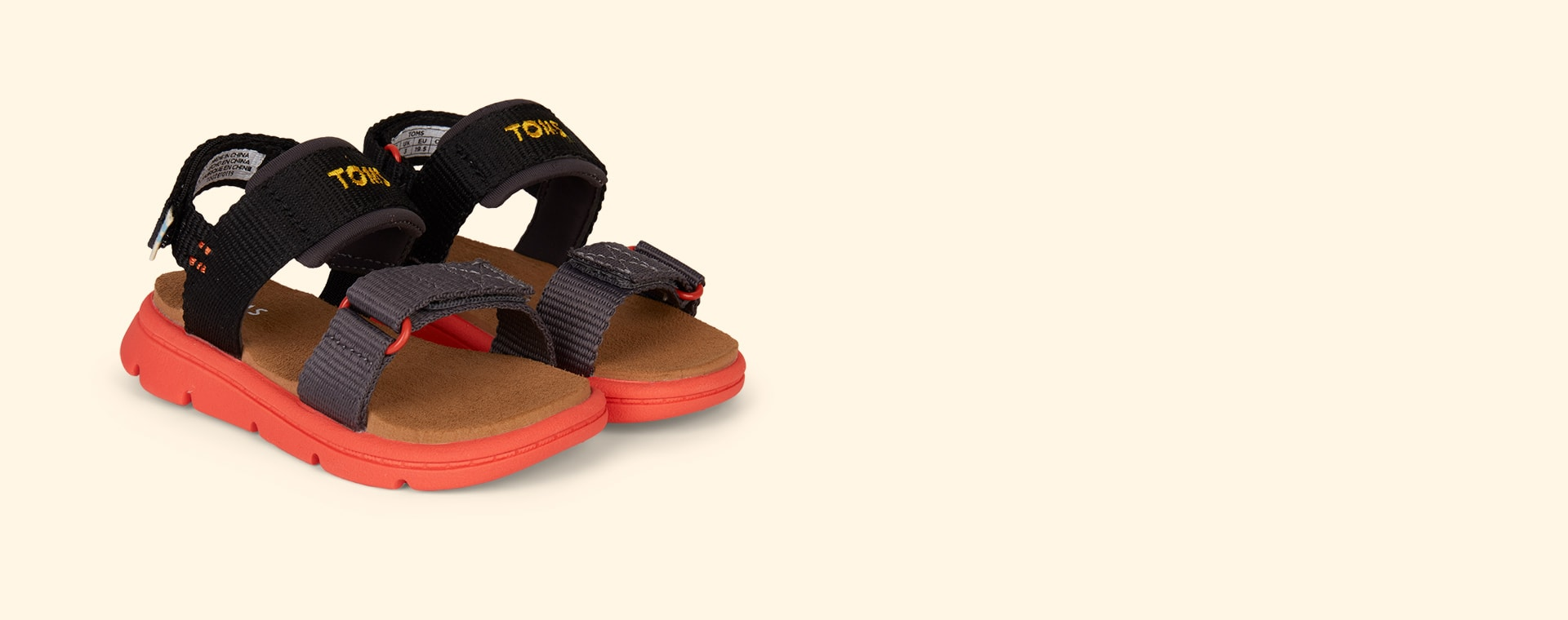 Black TOMS Ray Water Sandal