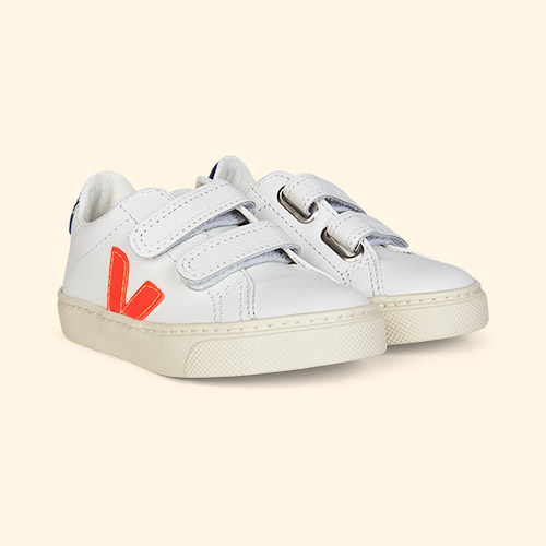Fluo Orange Veja Esplar Small Velcro Trainer