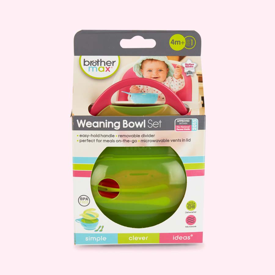 Pink Brother Max Weaning Bowl Set