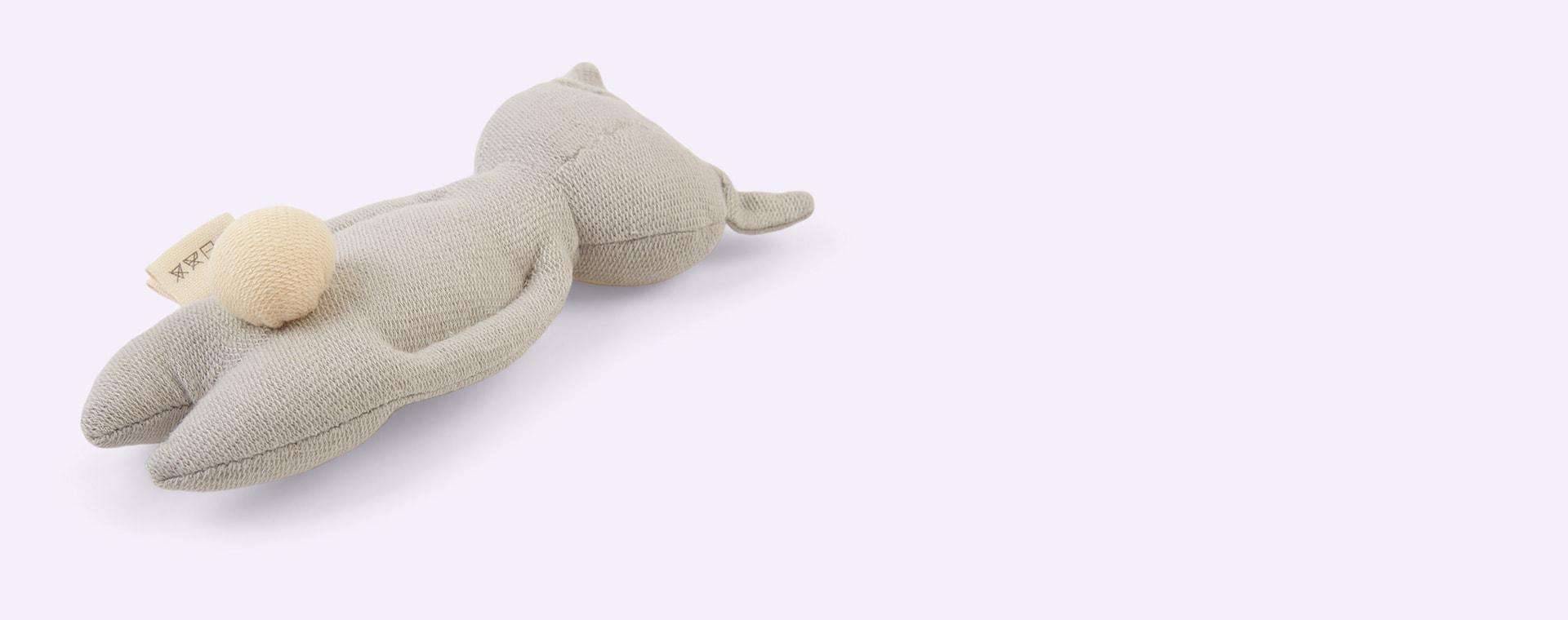 Bunny - Icy Grey Fabelab Soft Rattle