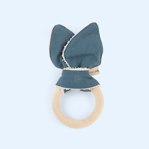 Whale - Blue Spruce Fabelab Animal Teether Whale