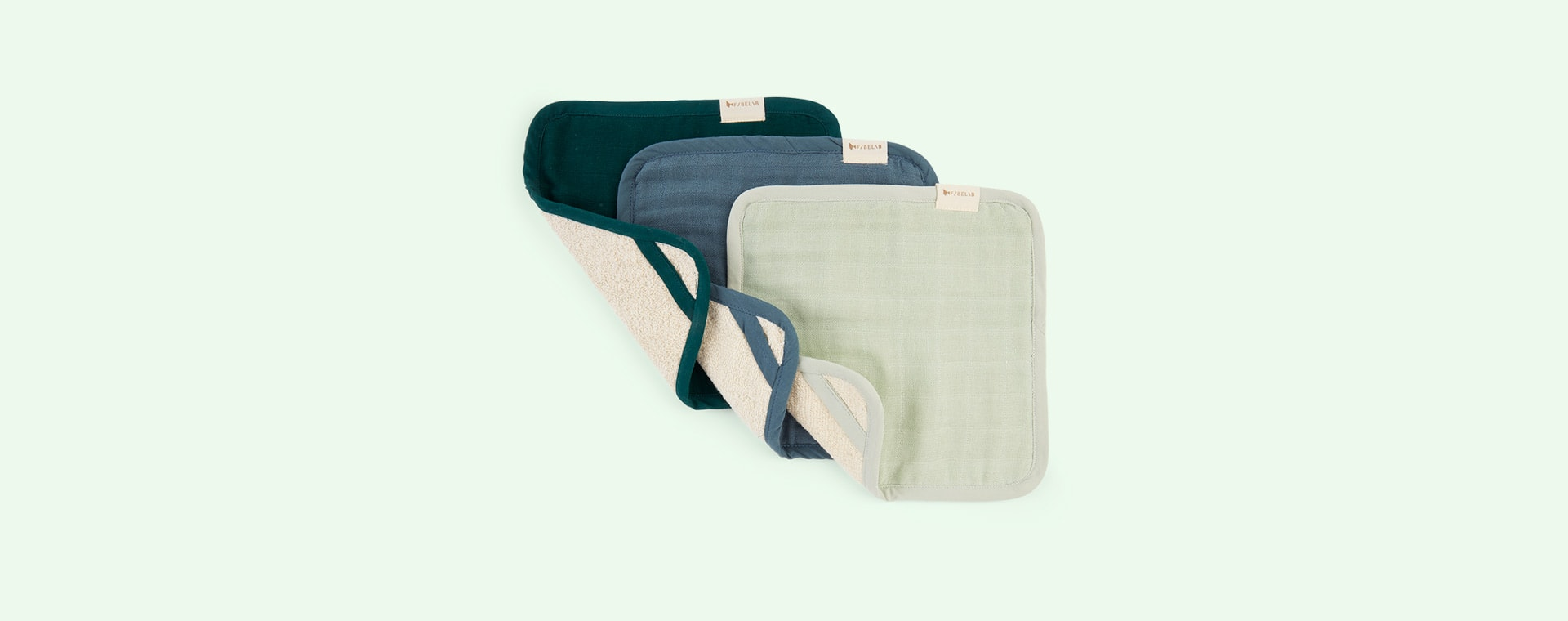 Coastline Fabelab Washcloth - 3pk