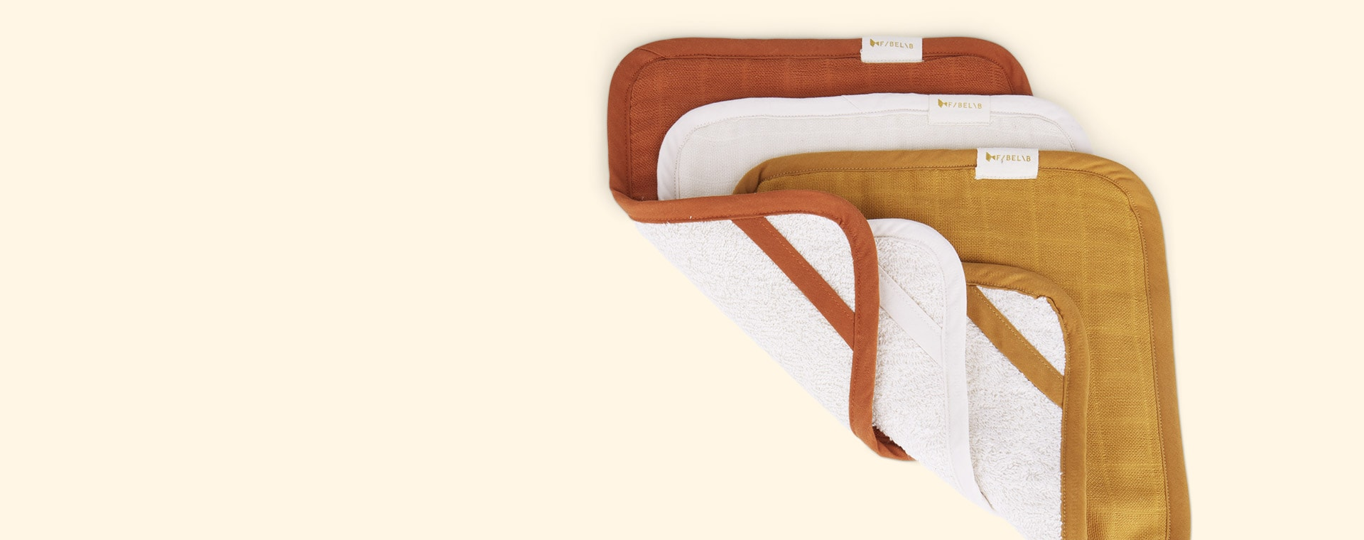 Wood Fabelab Washcloth 3 Pack