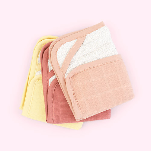 Pastel Flower Fabelab 3-Pack Washcloth