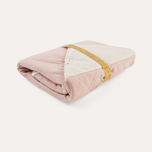 Mauve Fabelab Towelling Lined Changing Mat