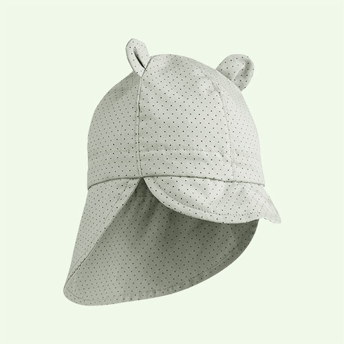 Dusty Mint Dot Liewood Gorm Sun Hat