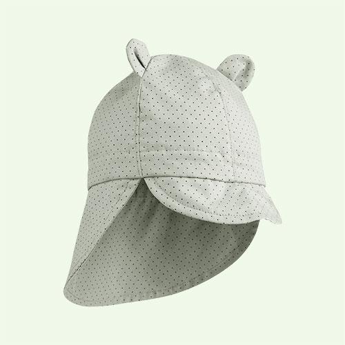 Dusty Mint Dot Liewood Gorm Sun Hat