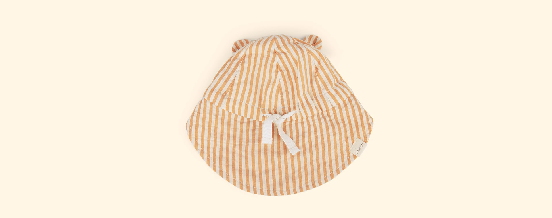 Mustard/White Liewood Gorm Sun Hat