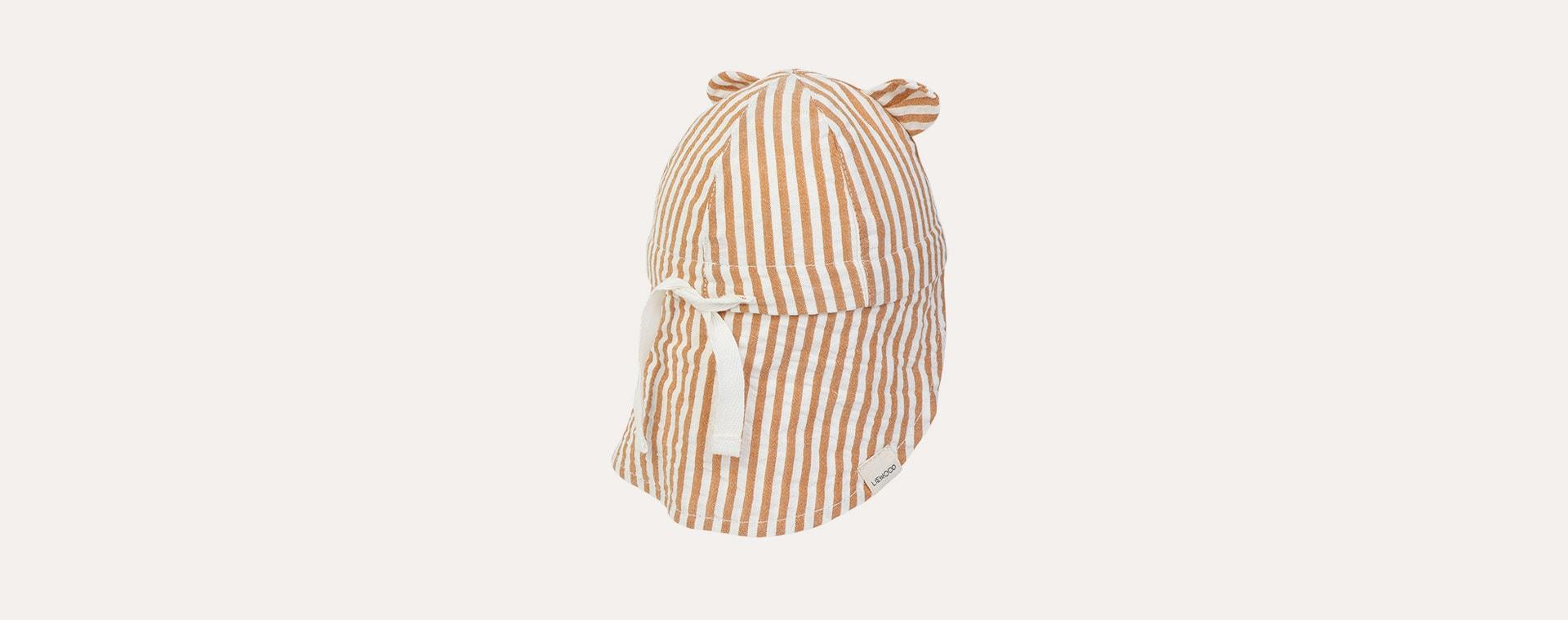 stripe: Mustard/white Liewood Gorm Sun Hat