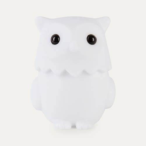 White Isi Mini Rechargeable Owl Nightlight