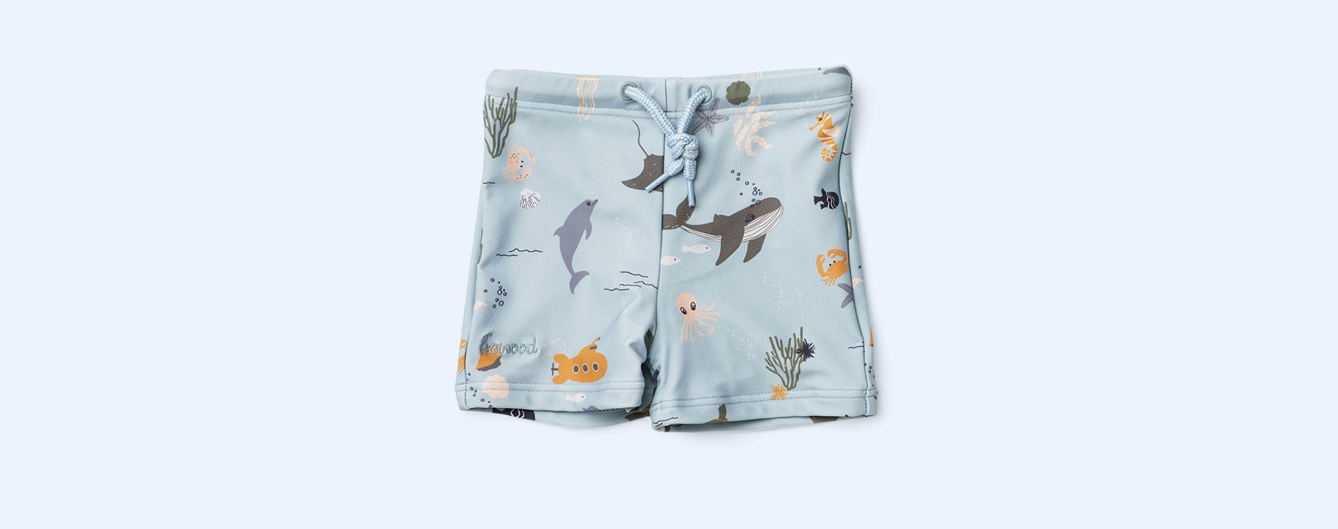 Sea Creature Mix Liewood Otto Swim Pants