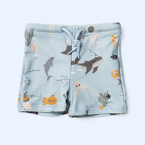 Sea Creature Mix Liewood Otto Swim Pants
